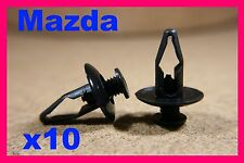 10 MAZDA PARAURTI FENDER TRIM Fascia Pannello Rivestimento Copertura Fastener Clip Pin