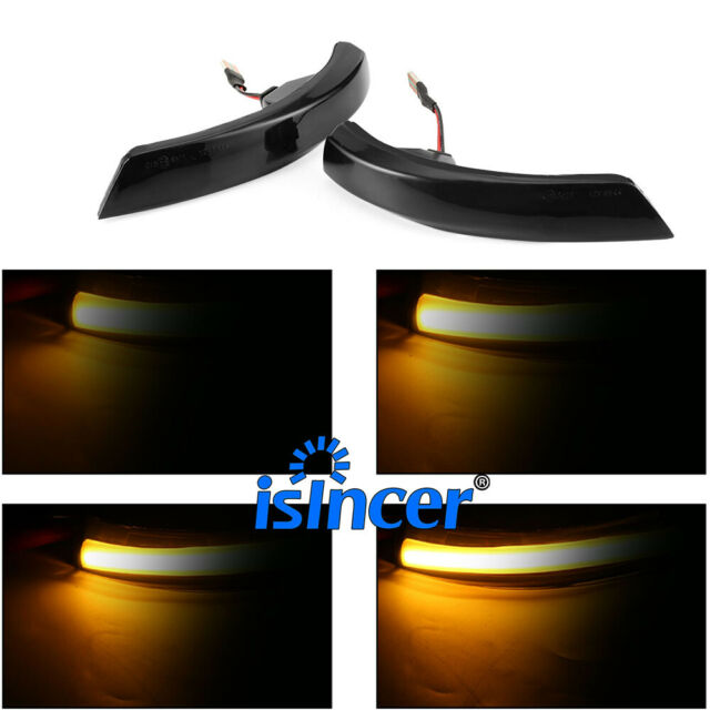 Dynamic LED Side Mirror Turn Signal Lights Blink For Ford