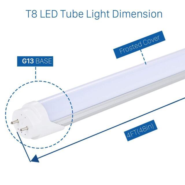 LOT 1-10X T8 LED Tube Light 2FT 4FT 10//18W 4000K 6000K 1800LM Shock Resistant MY