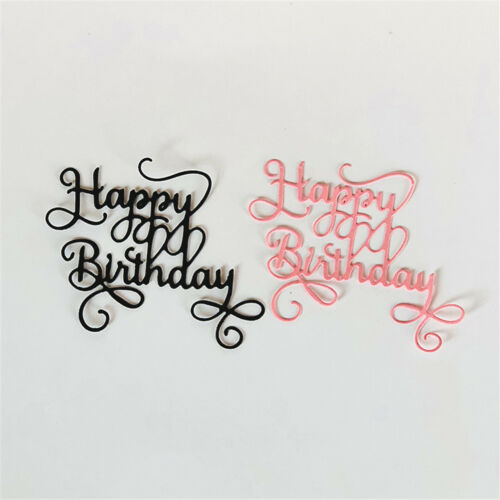HappyBirthday Alphabet Metal Cutting Dies For DIY Scrapbookings Album PaperCardF