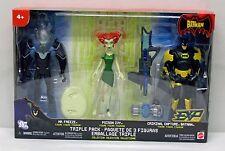 The Batman Animted Series 3 Pack Mr Freeze Batman Poison Ivy Mattel NIP S141-12