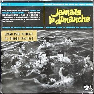 JAMAIS-LE-DIMANCHE-BO-FILM-JULES-DASSIN-MELINA-MERCOURI-25CM-BARCLAY-80-117