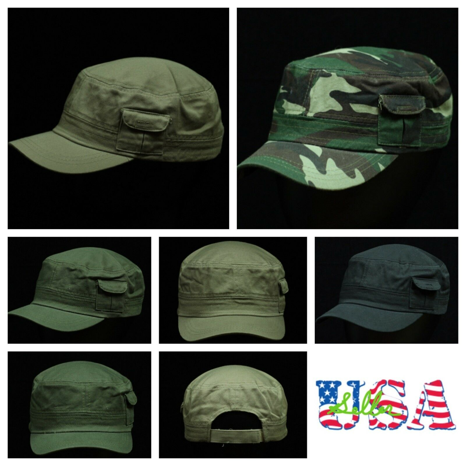 Unisex Army Military Cadet Patrol Combat Field Baseball Cap Adjustable Trucker