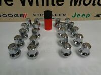 Challenger Charger 300 Chrome Gorilla Lug Nuts 14x1.5 Hex Acorn And Socket