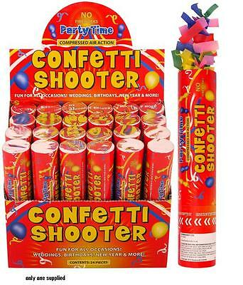 Pack of 2 Large 20cm Wedding Birthday Party CONFETTI SHOOTER Cannon Popper