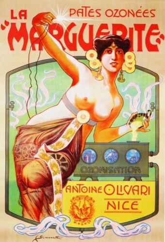 3053.La Marguerite Antoine Olivari Pinup POSTER.Home Room Art Nouveau decoration