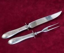 Vintage Sterling Silver Fork & Knife Cutlery Carving Set