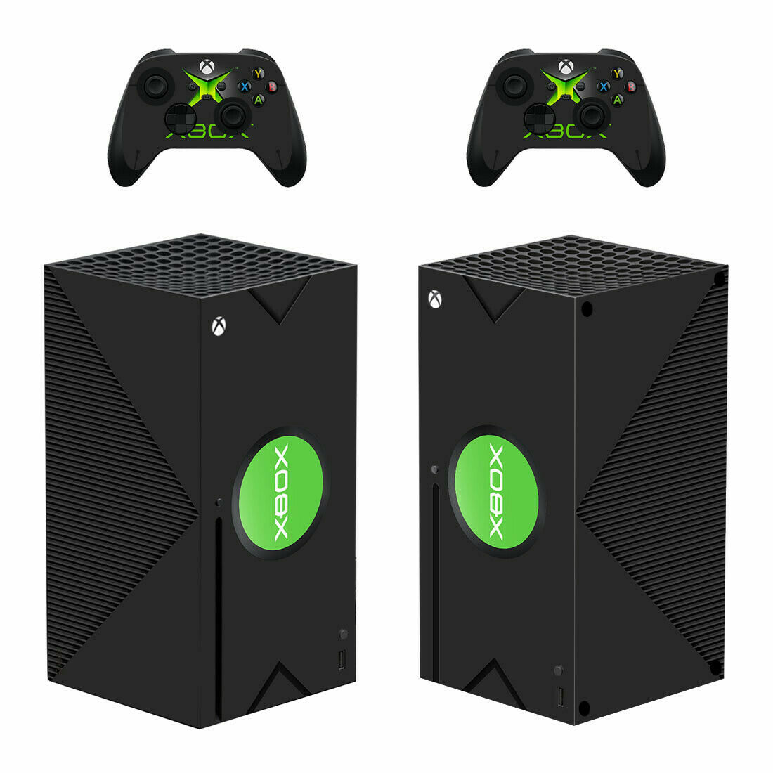 Xbox Series X Skin Wrap Decal Vinyl Sticker Cover Classic Xbox First Generation