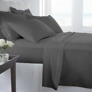 Linens Factory 820 Thread Count Queen - Sheet Set Dark Grey