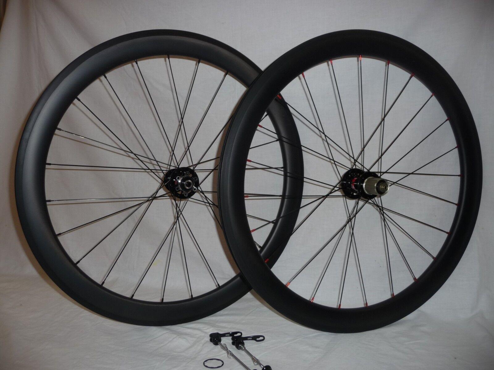 EXTRA Wide 50mm Deep Carbon Freno A Disco StradaGhiaia ruote bici