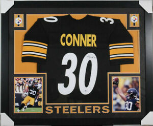 the latest 8b2dd 8f5a8 Details about James Conner Signed Steelers 35x43 Framed Jersey (JSA) 2017  3rd RD Draft Pick RB