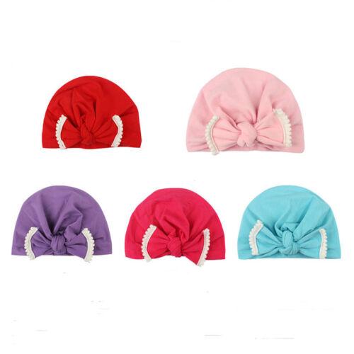 Fashion Turban Beanie Hat Winter Warmer Cap Supplies For Cute Baby Infant CB