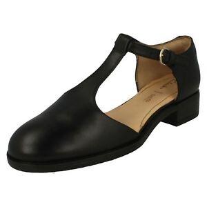T Shoes Fresh' Clarks Black Ladies 'netley bar 5qwqaTnCt