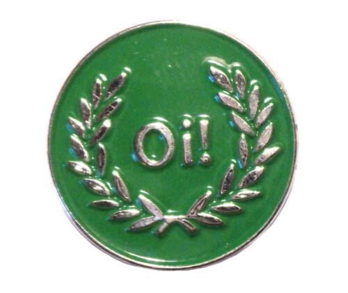 Oi Green Silver /& Laurel Skinhead Scooter MOD Metal Scooterist Enamel Badge NEW