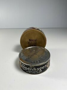 2-Vintage-Antique-Copenhagen-Snuff-Tabacco-Containers-08-02-1990H-Empty-Boxes