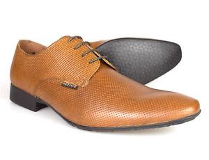 RED-TAPE-Gerald-Piel-Marron-Para-Hombre-Zapatos-Formales-RU-7-11