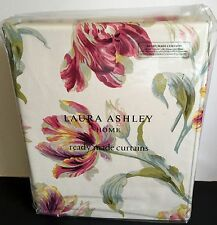 "Laura Ashley Curtains Gosford Cranberry Red 88"" X 90"" Long 223cm x 229cm"