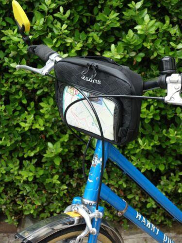 Lotus Mini Guidon Sac//Noir//1.2 L//Touring//Bikepacking//au transport