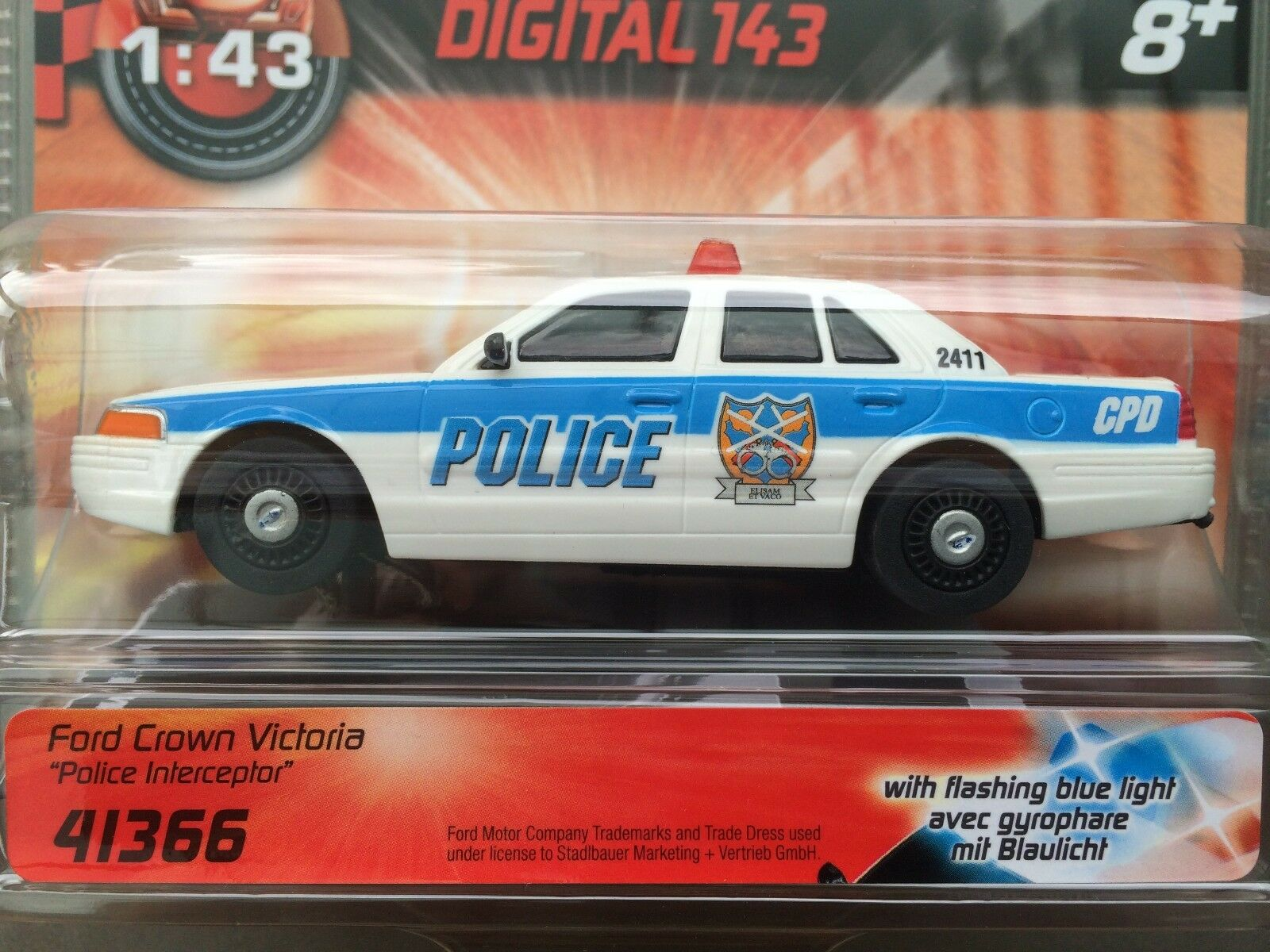 Carrera Digital 143 41366 Ford Crown Victoria   Police Interceptor   Flashing