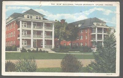 Postcard Upland Indiana In Taylor University Mcw Buildings View 1920 S Ebay
