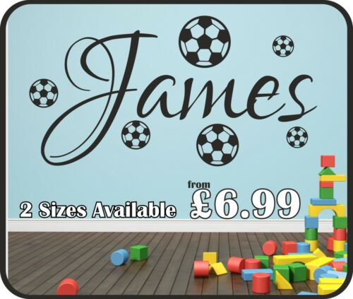 Personalised Name /& Footballs Wall Art Sticker,decal,Graphic Decal,Bedroom sg89