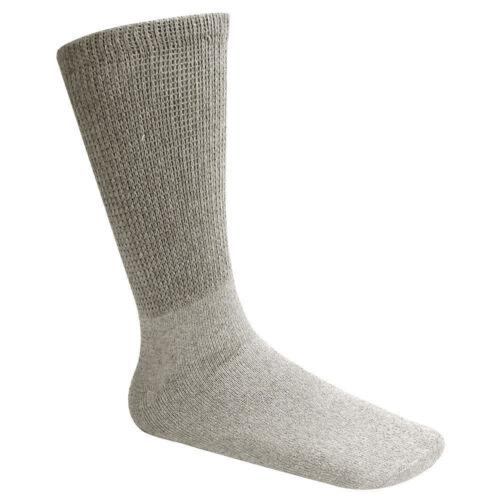 New Diabetic Crew Socks Circulatory Health Cotton Loose Fit Top 12 Pairs