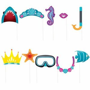 10 X Assorted Sea Creatures Under The Sea Ocean Photo Booth Props