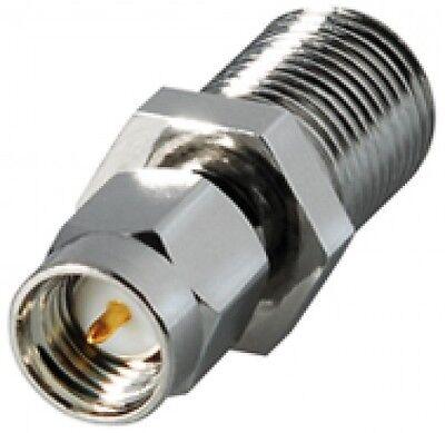 transmedia sma stecker an sat F buchse kupplung antenne metall adapter neu