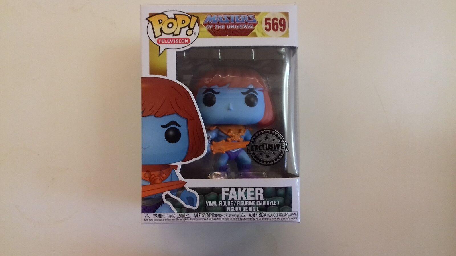Funko, pop,  motu, master of the universe, faker, 569, nine, exclusive  meilleur choix