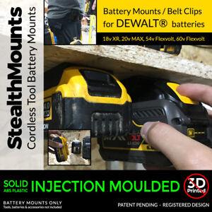 5x-Stealth-Mounts-for-DeWALT-20v-18v-BATTERY-Holder-Slot-Shelf-Rack-Stand-Van
