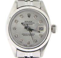 Rolex Datejust Ladies Stainless Steel Watch Jubilee Bracelet Silver Diamond Dial