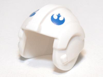 Headgear Helmet Rebel Pilot w// Red Rebel Logo /& Stripe Minifig LEGO Star Wars