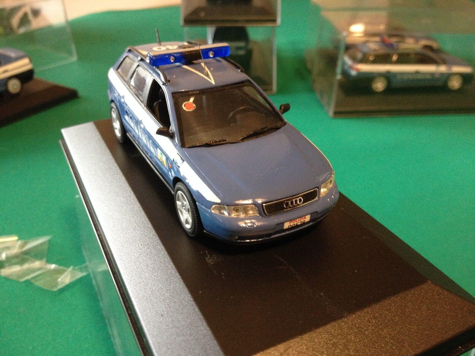 AUDI A4 AVANT I SERIE  POLIZIA AUTOSTRADALE BILINGUE  -POLICE   IN SCALA 1/43