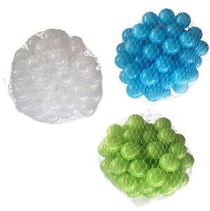150-9000 Piscine De Balles 55mm Mélange Turquoise Vert Clair Transparent