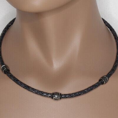 Gut Ausgebildete Schwarz Antik Lederkette Für Herren Edelstahl Halskette Storch Schmuck Germany Buy One Give One