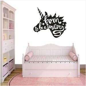 Unicorn Wall Stickers Decal Enfants Fille Garçon Bébé Chambre à Coucher Licornes-afficher Le Titre D'origine