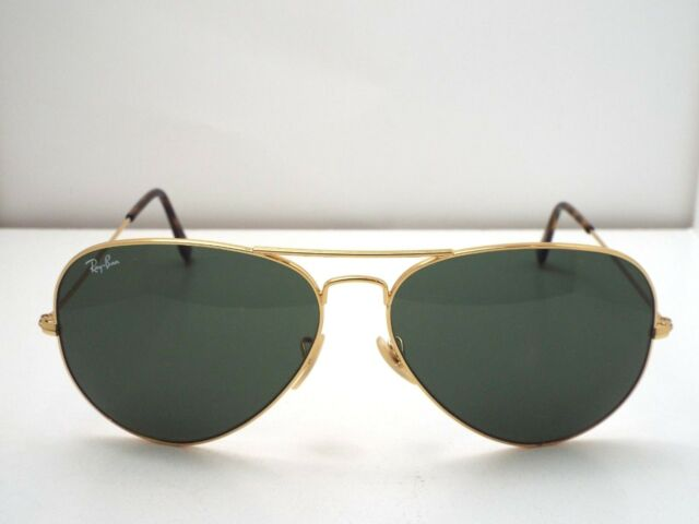Authentic Ray-Ban RB 3025 181 Gold Havana Green G-15 Aviator L Sunglasses $210