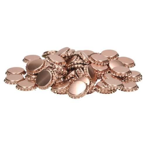 100 Stückfür Bierflaschen Kronkorken 26 mm metallic pink