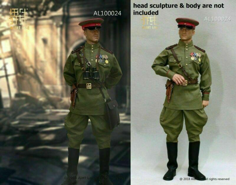 1 6 AL100024 Infantería Ejército Rojo soviético de la segunda guerra mundial capitán oficial Ropa Traje figura