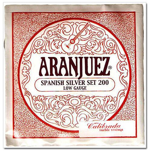 Aranjuez classical guitar strings spanish silver set Low Gauge 200