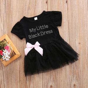 1a1b6adcc807 US Newborn Baby Girls Black Lace Princess Tutu Tulle Dress Party ...