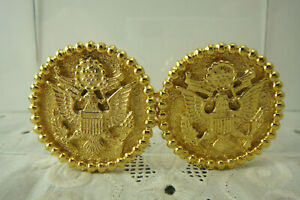 Vintage-Mimi-di-N-Gold-Plated-American-Eagle-Great-Seal-of-US-1975-Belt-Buckle