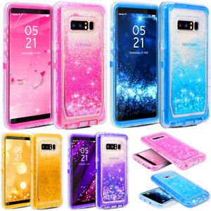the latest bf815 78e4b Details about For Samsung Galaxy Note 8 Glitter Liquid Case (Belt Clip Fits  Otterbox Defender)