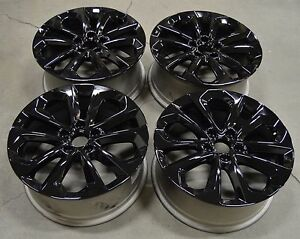18 honda accord sport 2013 2014 2015 factory oem rim wheel 64048 gloss black ebay. Black Bedroom Furniture Sets. Home Design Ideas