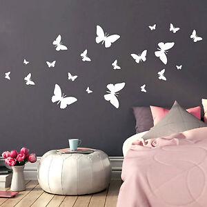 10167 Sticker Mural Papillon Essaim Tableau Mural Papillons Papillon