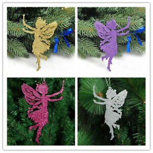 Angel Ornaments For Christmas Tree.Details About 10pcs Christmas Glitter Fairy Memory Angel Ornaments Xmas Tree Hanging Decor New