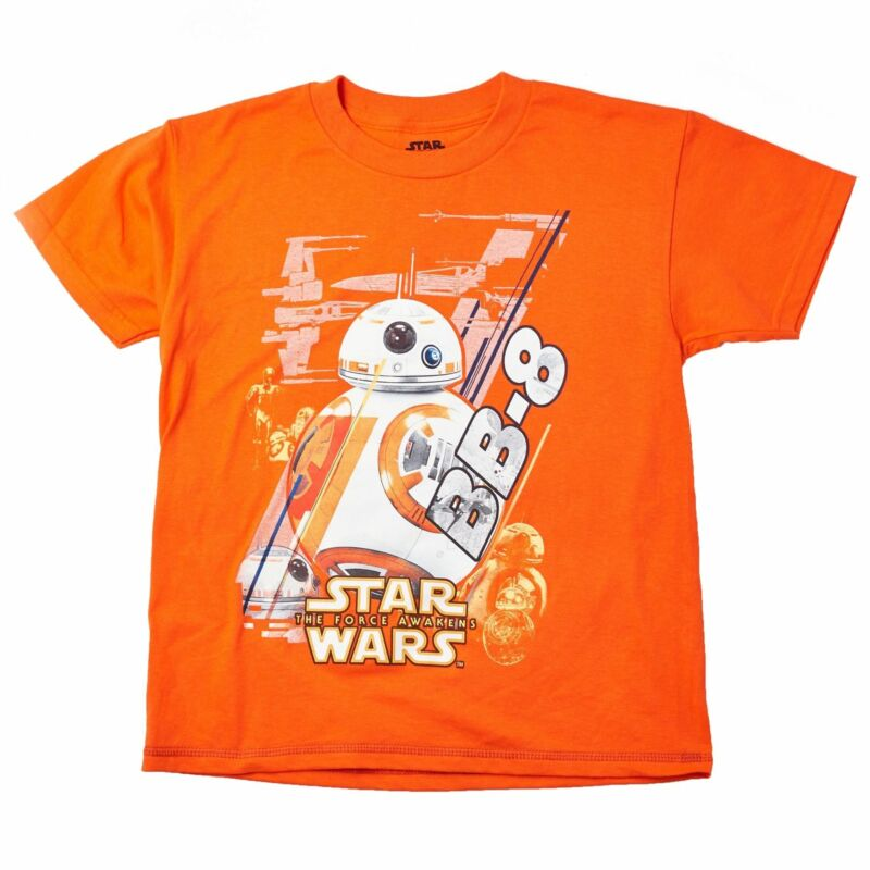 Star Wars Youth Graphic Tee 100%cotton Size 16-18 Bb8 Ball L Orange