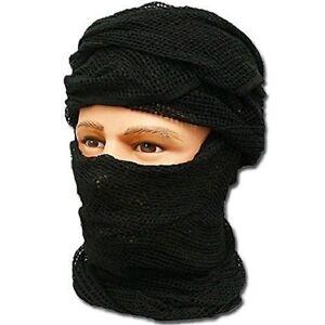Chèche filet noir en mailles état neuf   foulard écharpe chech shech ... 210d1c69899