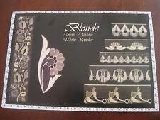 Blonde Point Ground Bobbin Lace booklet leaflet, 5 great patterns Ulrike Voelker