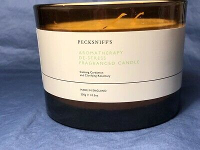 Pecksniff/'s Leather /& Oak Moss 3wick Candle 300g